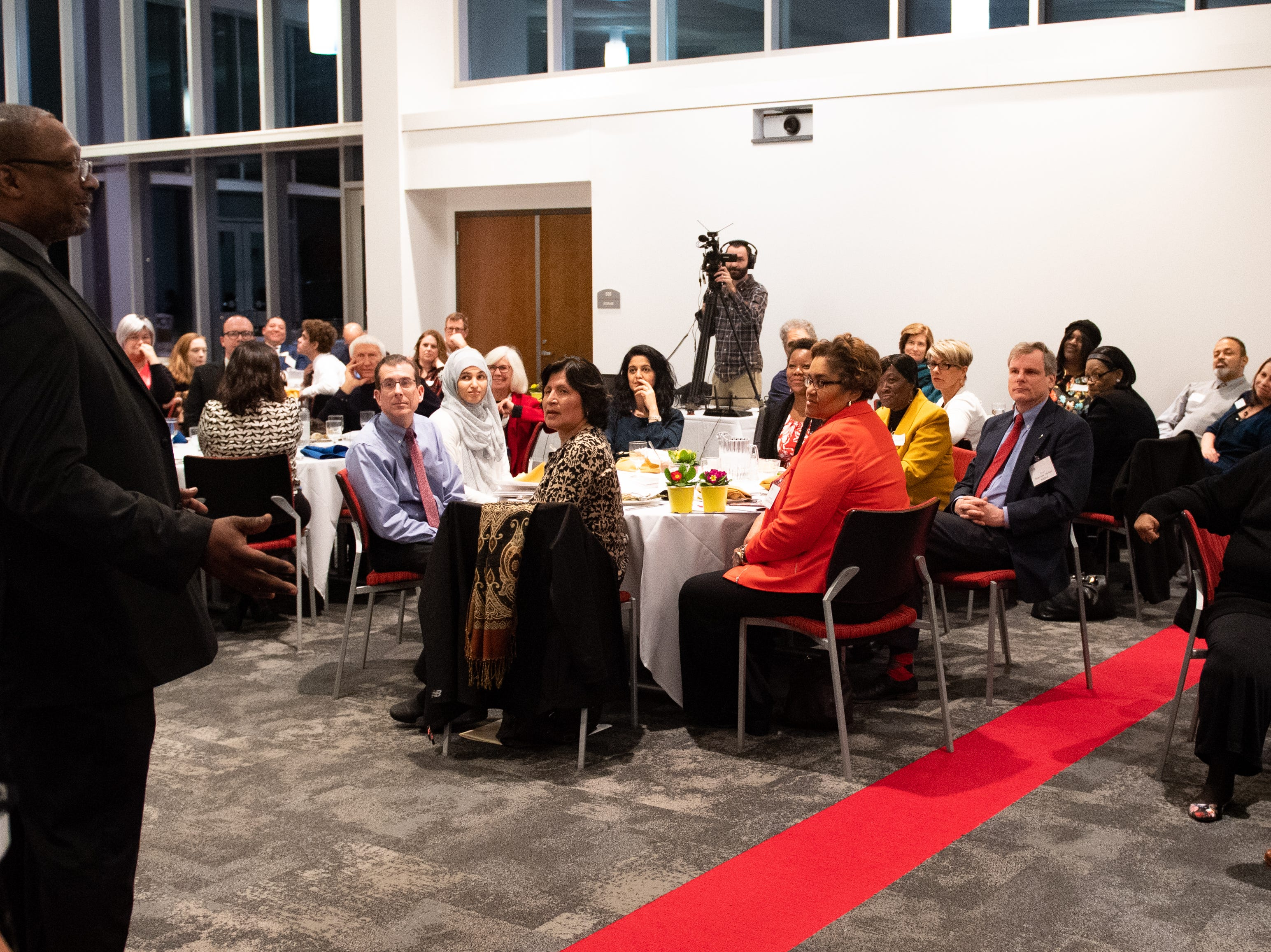 The Diversity Dinner was live streamed, so those absent from the evening could still watch, January 9, 2019.