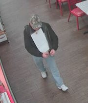 Springettsbury Township Police are looking to identify this man, suspected of taking a donation box from Firehouse Subs.