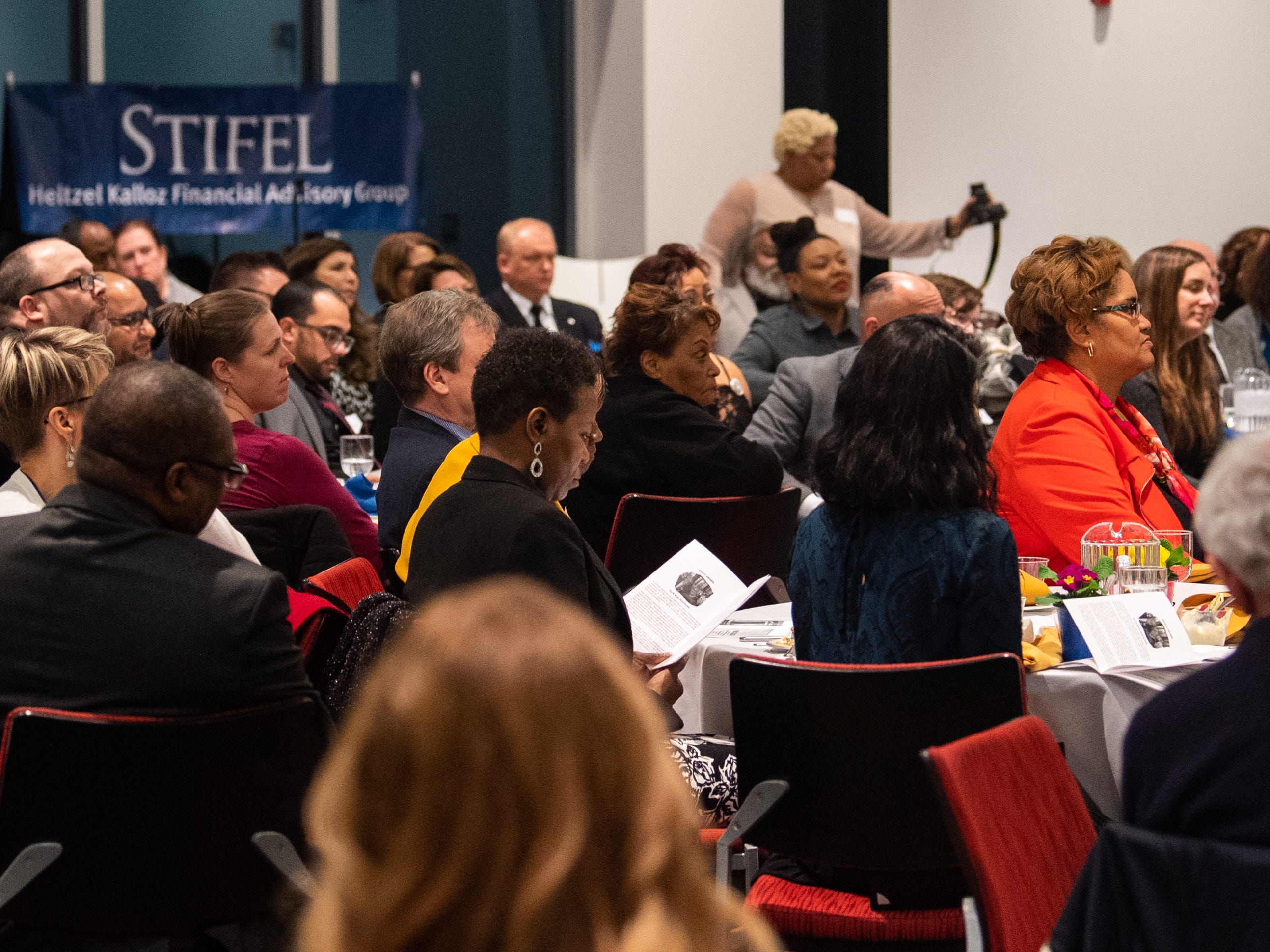 Yorkview Hall at York College was filled with a diverse crowd intently listening to each and every speech, January 9, 2019.