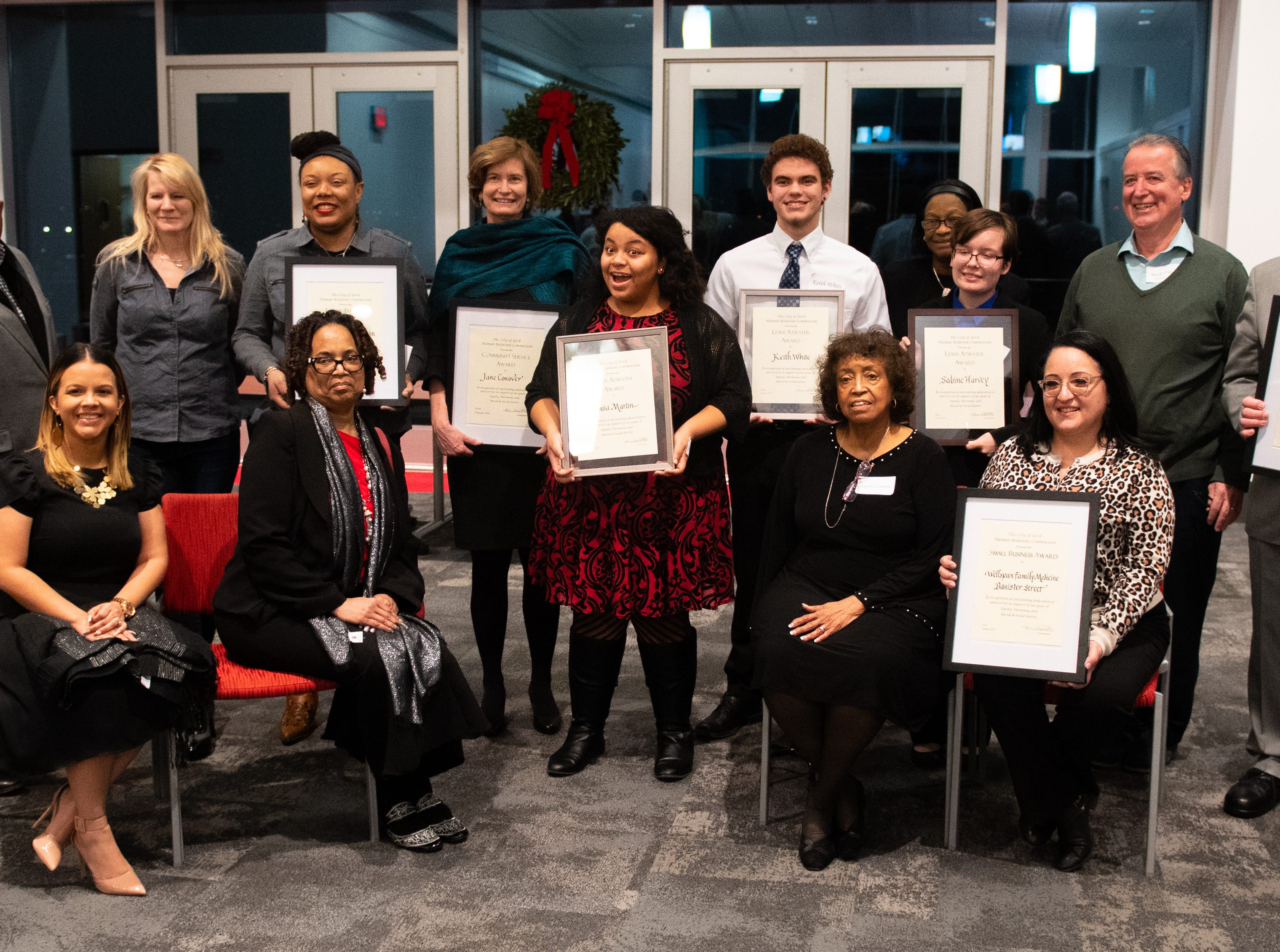 All of the Diversity award winners pose for one last picture before heading home for the night, January 9, 2019.
