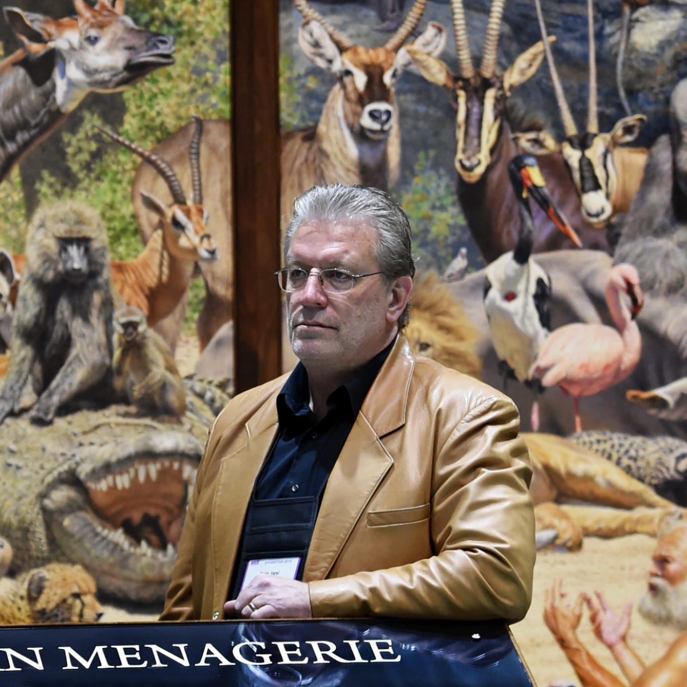 Wildlife painter at Safari Club convention finds inspiration in Africa and … Walmart?