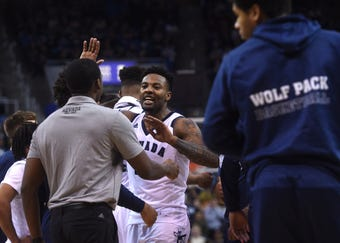 Nevada defeats San Jose State 92-53 at Lawlor Events Center in Reno on Jan. 9, 2019.
