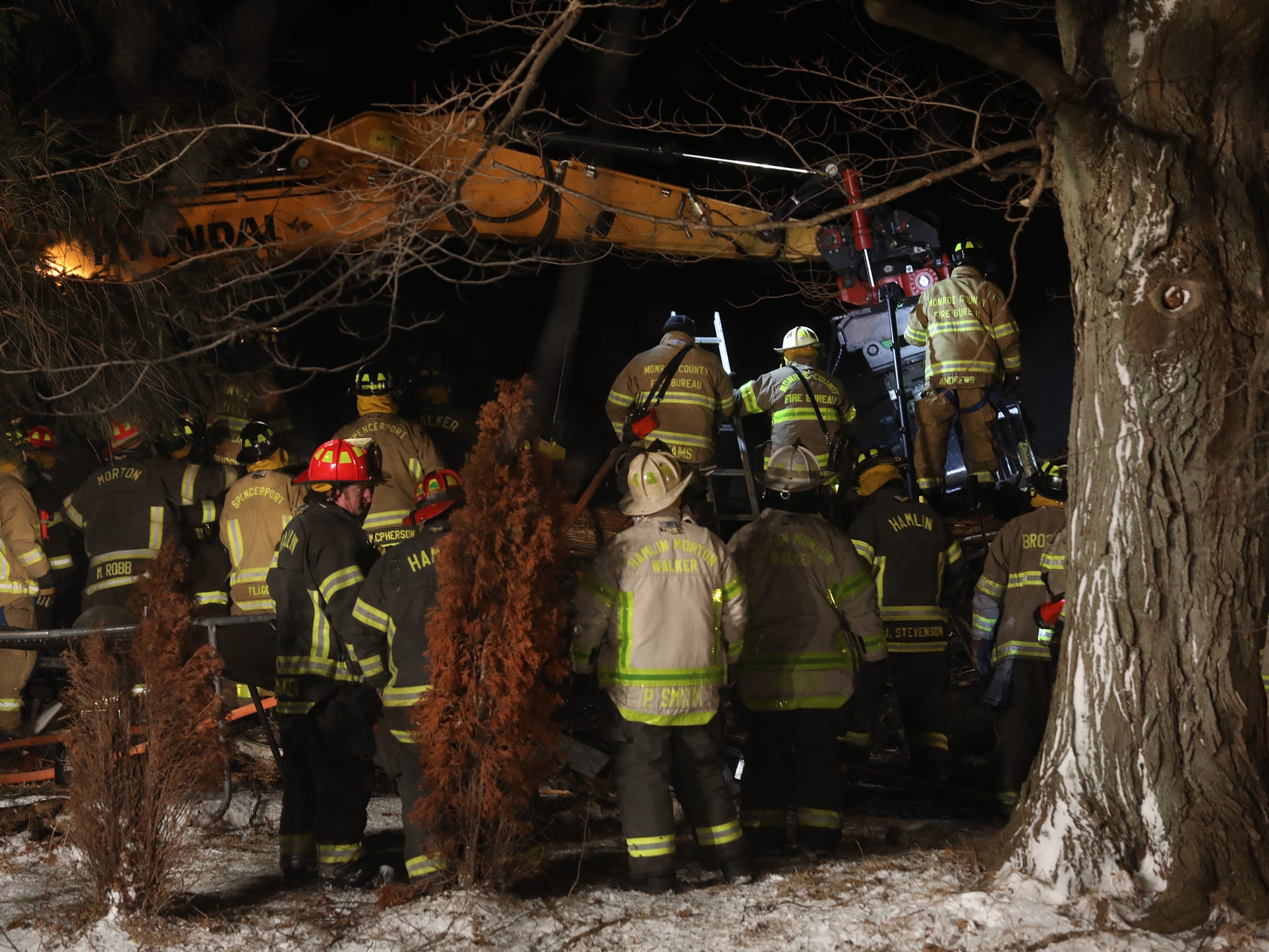 One person is dead after an early morning fire that caused a Hamlin home to collapse on itself.  Firefighters found the body of one of the occupants inside the home.