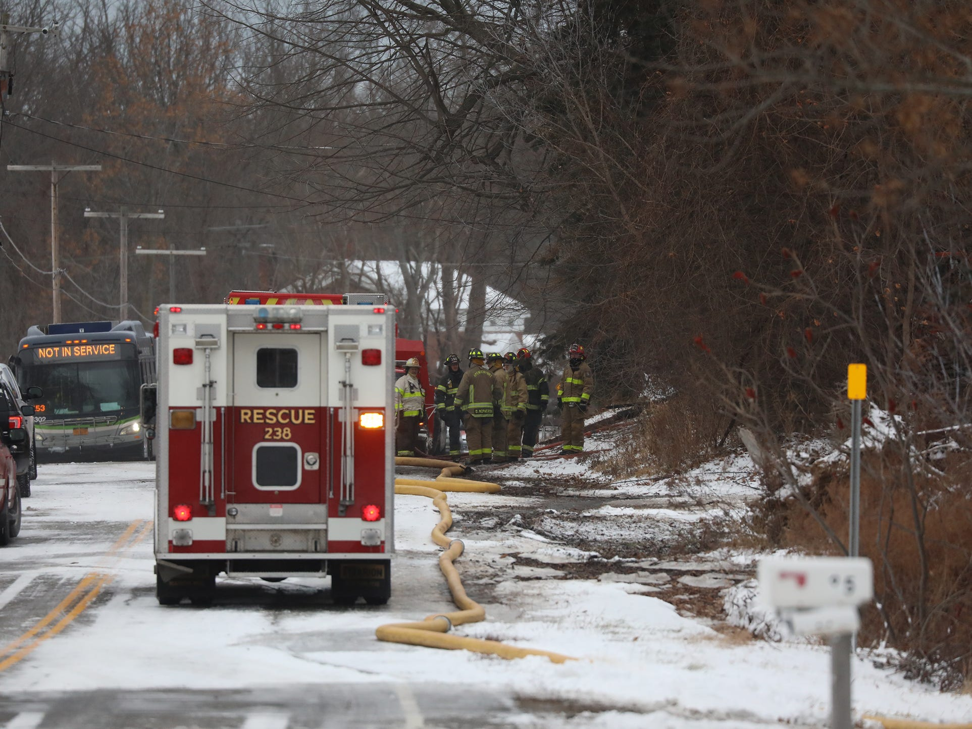 It took firefighters several hours to find the body of the resident who was reported to be still inside the home.