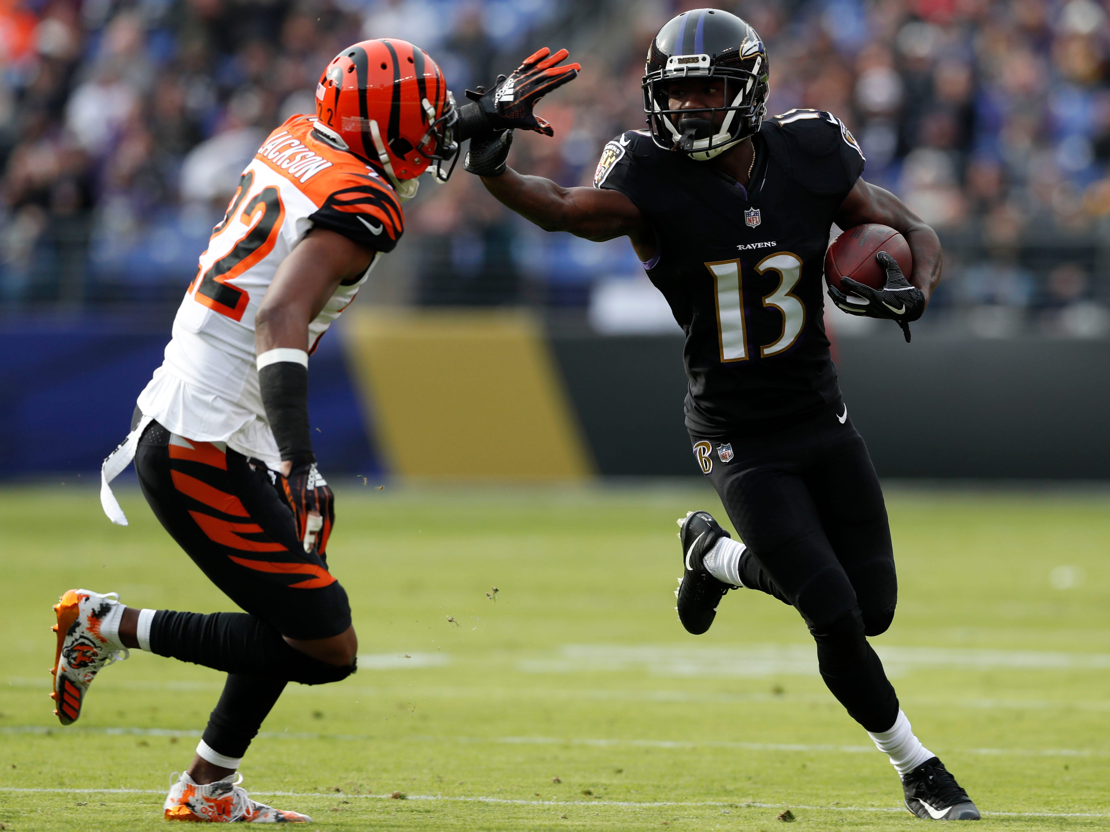 After signing a one-year deal with Baltimore this season, John Brown (13) is looking for a long-term deal. Would he be a good fit in Buffalo?