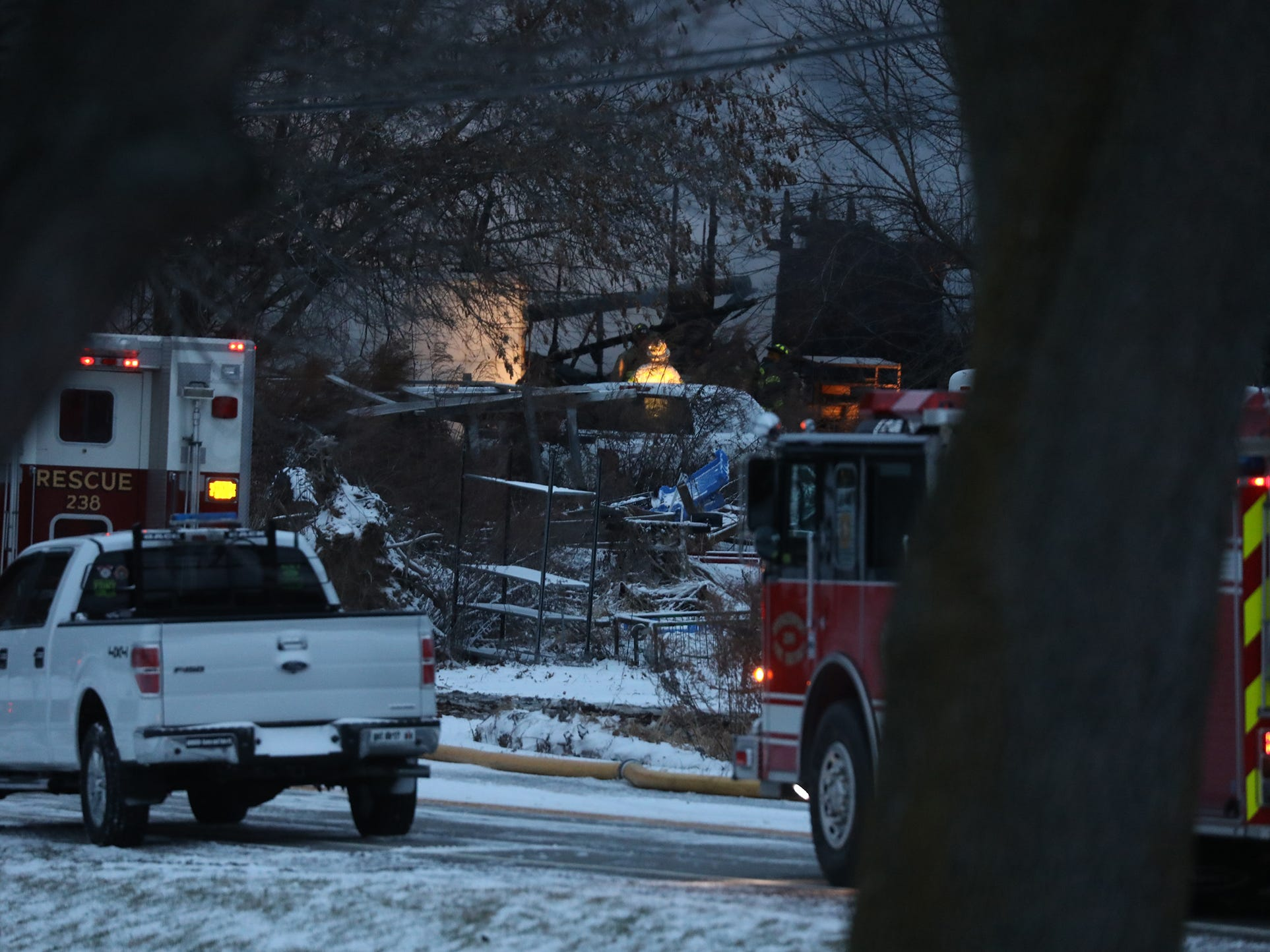The fire was so intense, firefighters could not enter the home to attempt a rescue.