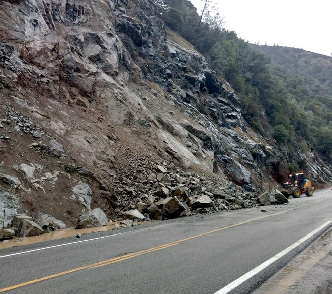 A slide on Highway 299 reduced traffic to one-way traffic control in Trinity County on Wednesday, causing one- to two-hour delays.