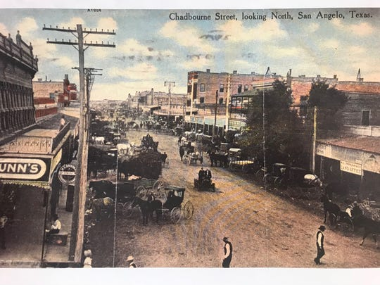 In the beginning, streets in San Angelo were packed dirt which had to be sprinkled with water to control the dust.