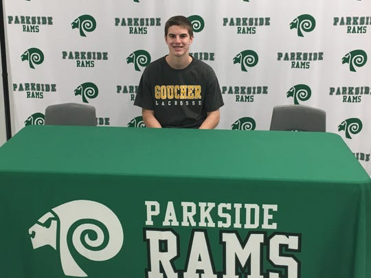 Parkside senior Stevie Mancha announces his intent to play lacrosse at Goucher College on Wednesday, Jan. 9, 2019.