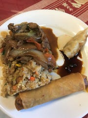 One option for lunch is their lunch buffet. Editor Megan Hart had the buffet and really enjoyed the spring rolls.