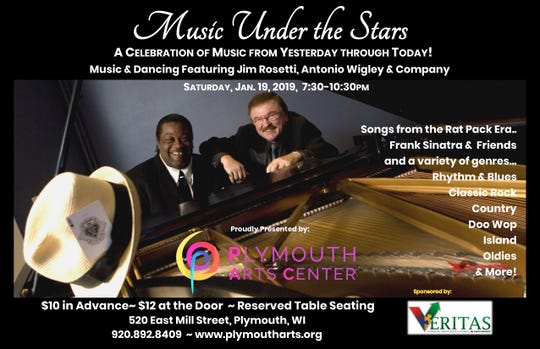 The Plymouth Arts Center will host Music Under the Stars on Jan. 19, 2019.