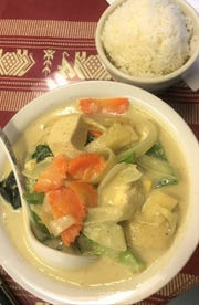 Green Curry from Toy's Thai Restaurant.