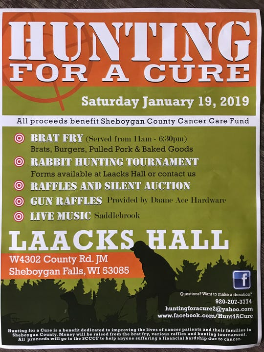 A flyer for the Hunting for a Cure event Saturday, Jan. 19.