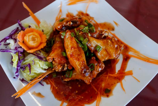 Sweet chili wings at Thai Basil on Wednesday, Jan. 9, 2019.