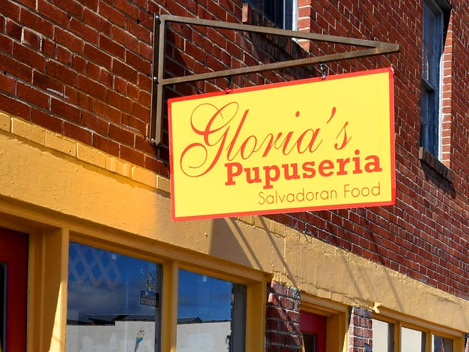 A sign out front marks Gloria's Pupuseria at 300 North Central Avenue in Staunton. The El Salvadorian restaurant recently expanded into the adjacent space of 302 North Central Avenue.
