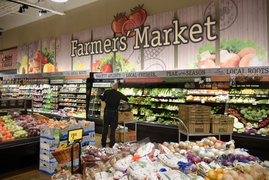Fresh fruits and vegetables are stocked at the Cooper Avenue Coborn's store in this 2018 file photo.