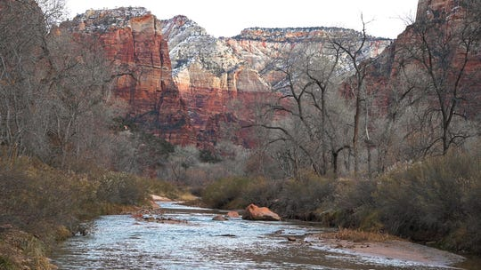 Zion National Park Tuesday, January 8, 2019. The park is open through January 12, thanks to several Utah organizations.