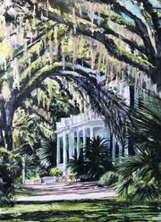 "Randy Brienen's ""Goodwood Shadows,"" part of an exhibit at the Artport Gallery."