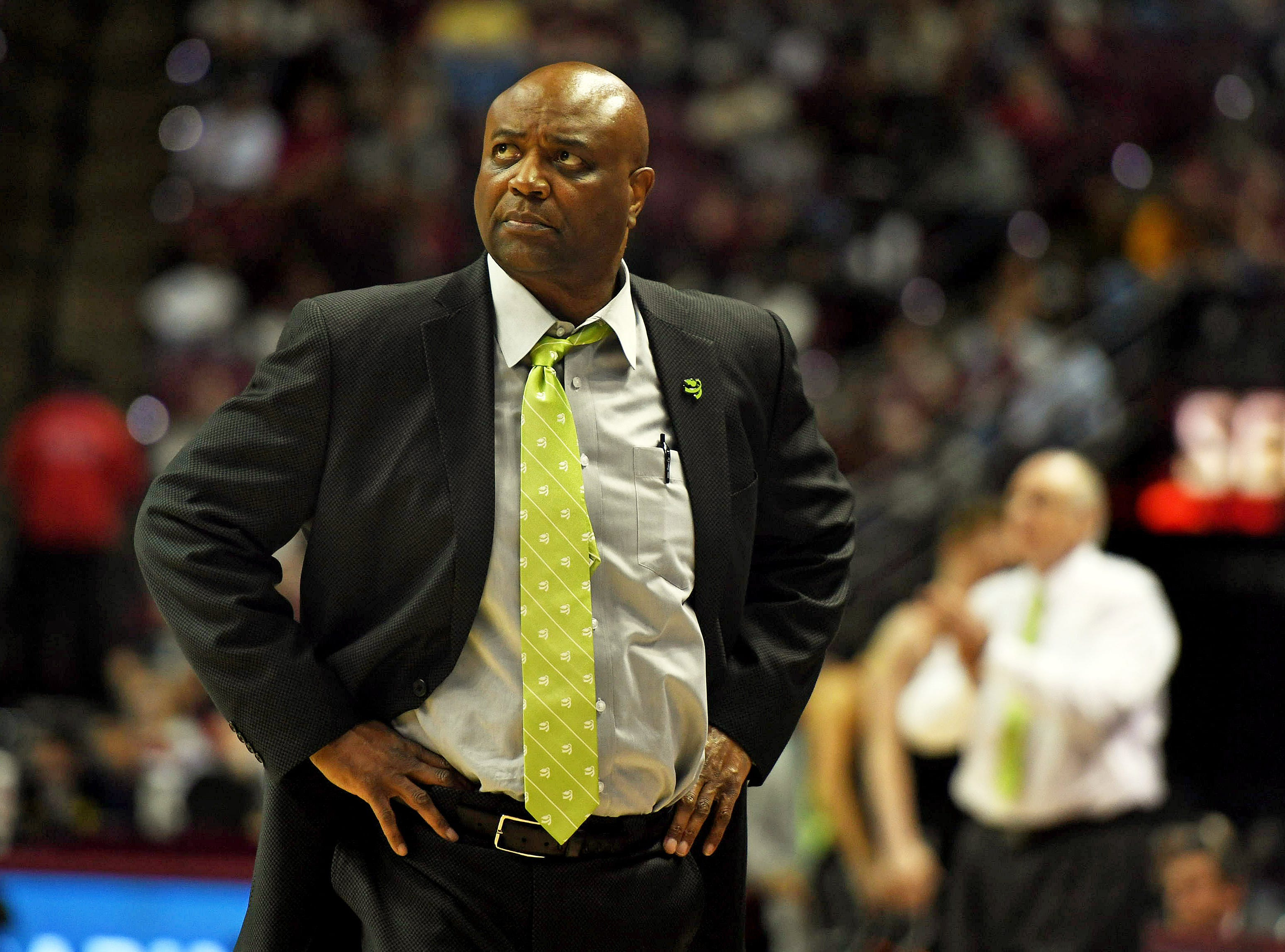 Jan 9, 2019; Tallahassee, FL, USA; Florida State Seminoles head coach Leonard Hamilton looks on during the second half against the Miami Hurricanes  at Donald L. Tucker Center. Mandatory Credit: Melina Myers-USA TODAY Sports