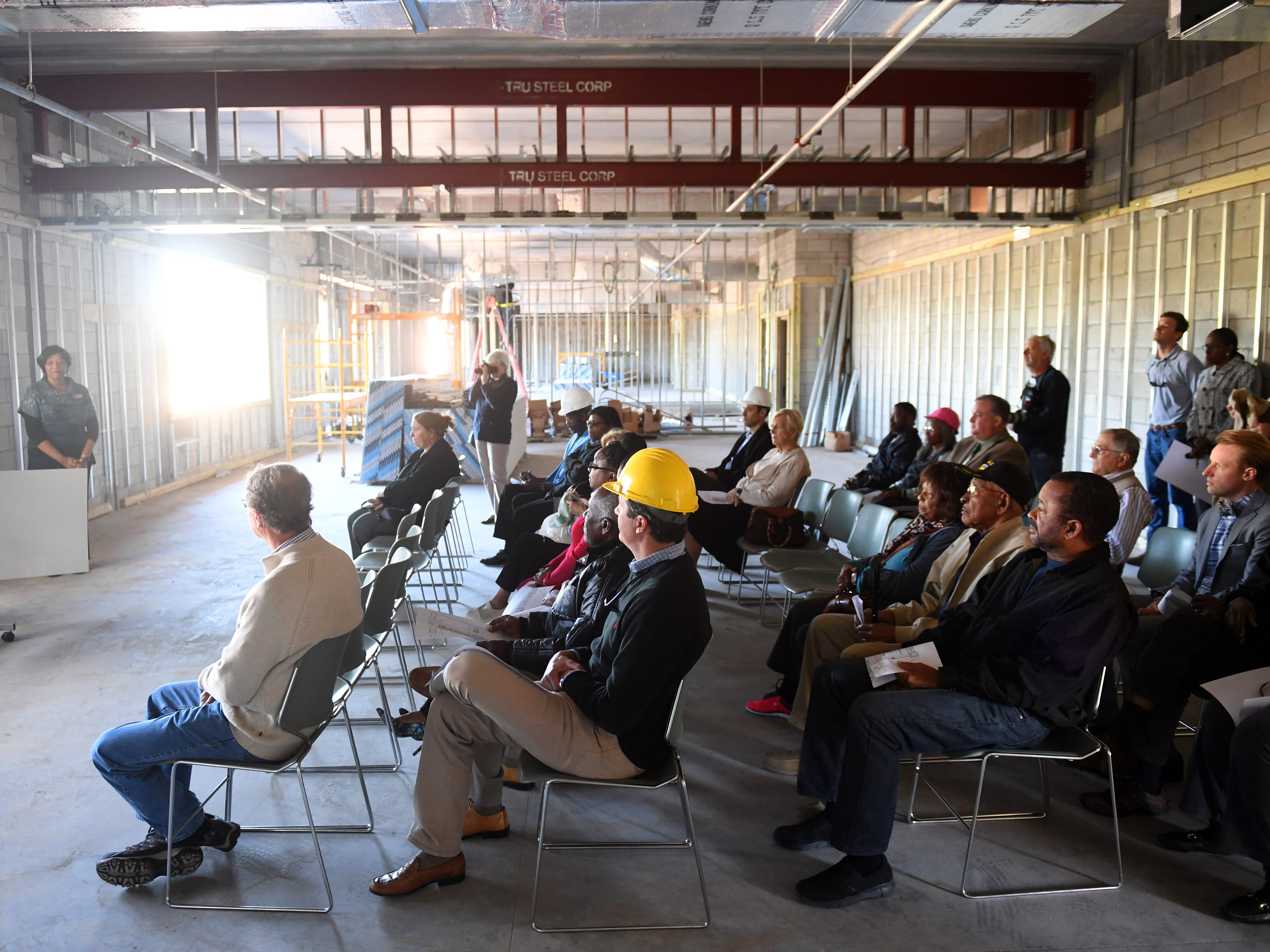 "About 30 people were given a tour of the new expansion of the Gifford Youth Achievement Center on Thursday, Jan. 10, 2019 as construction continues. The 14,000-square-foot expansion will add eight multipurpose learning rooms, including a computer lab and two rooms geared toward teenagers. ""The building will be used for our middle and high school after school program that has doubled in population over the last few years,"" said Angelia Perry, executive director for the center."