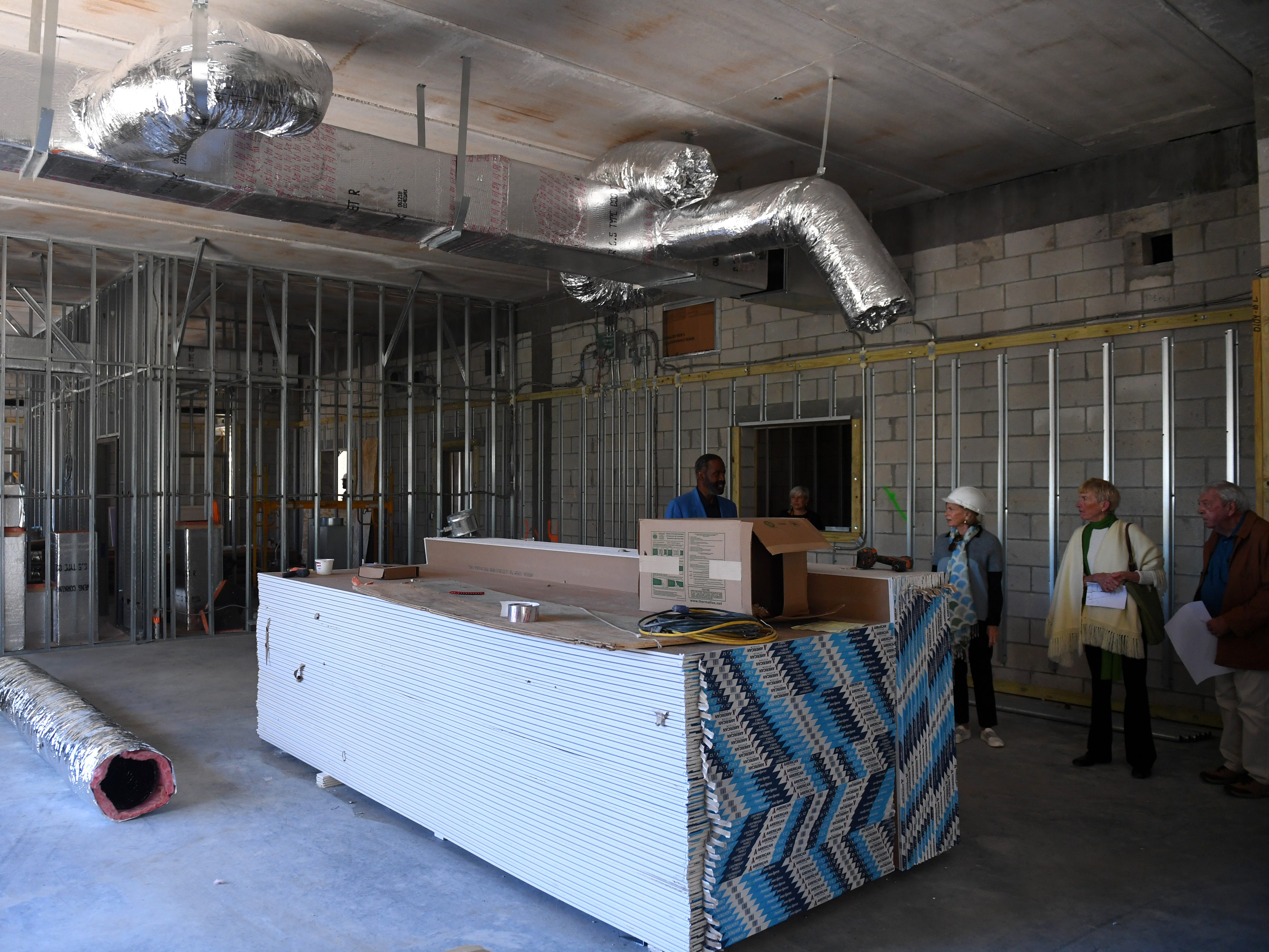 """About 30 people were given a tour of the new expansion of the Gifford Youth Achievement Center on Thursday, Jan. 10, 2019 as construction continues. The 14,000-square-foot expansion will add eight multipurpose learning rooms, including a computer lab and two rooms geared toward teenagers. """"The building will be used for our middle and high school after school program that has doubled in population over the last few years,"""" said Angelia Perry, executive director for the center."""