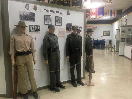 In this Nov. 29 photo, U.S. Border Patrol uniforms throughout the years are on display at a museum dedicated to the border patrol in El Paso, Texas.