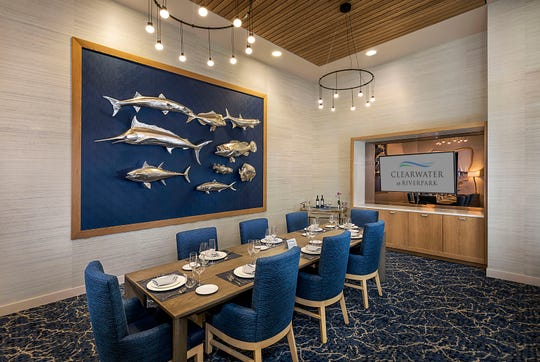 A private dining room at Clearwater at RiverPark in Oxnard is available for family gatherings and other meetings.