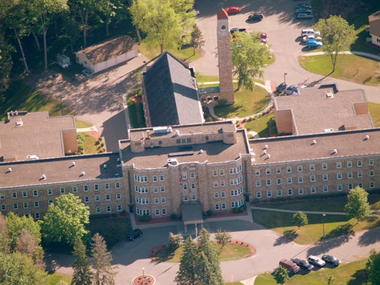 Aerial view of Bell Tower Residence in Merrill