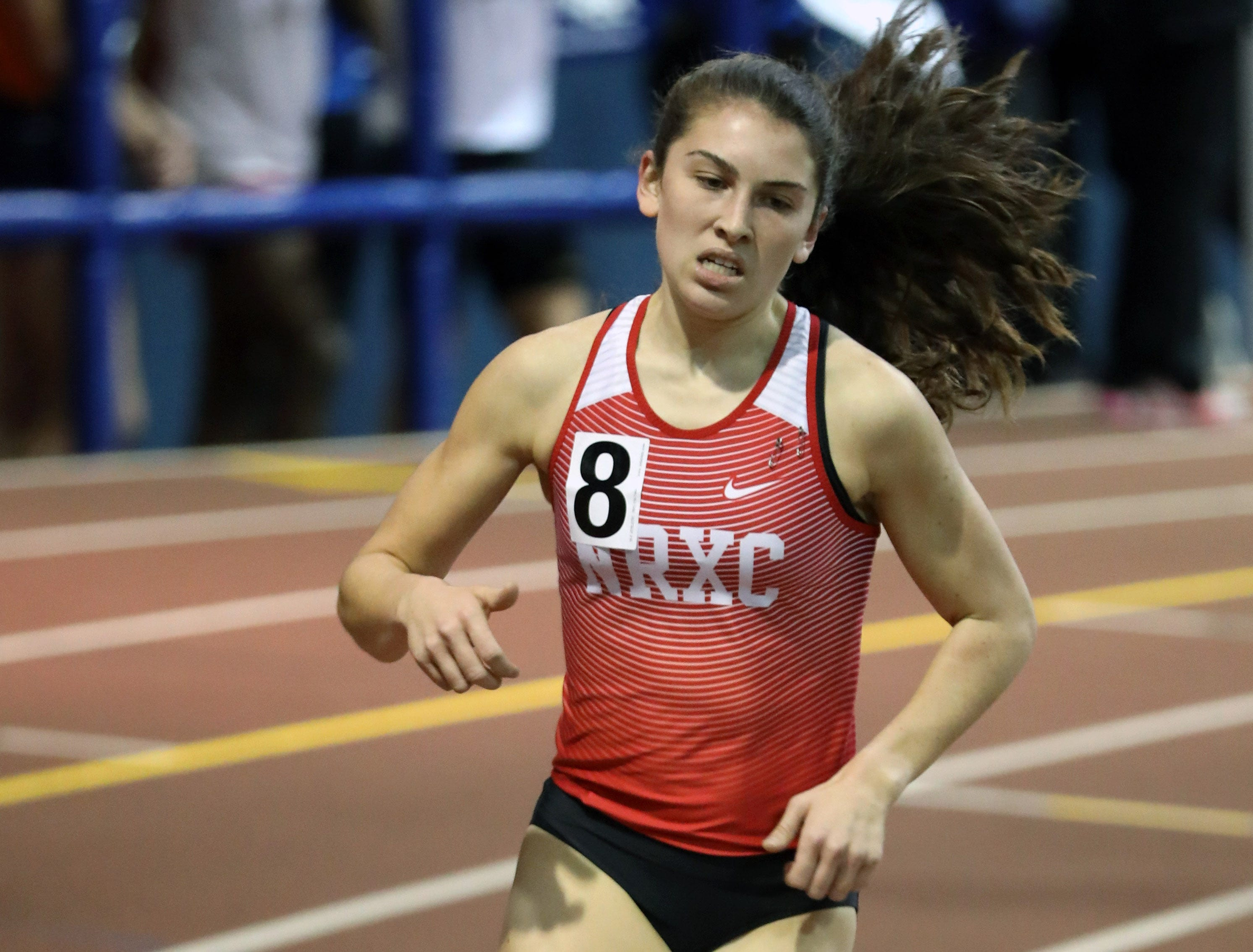 North Rockland's Haleigh Morales competes in the Girls invitational mile during the Millrose Games Trials at the Armory in Manhattan Jan. 9, 2019.