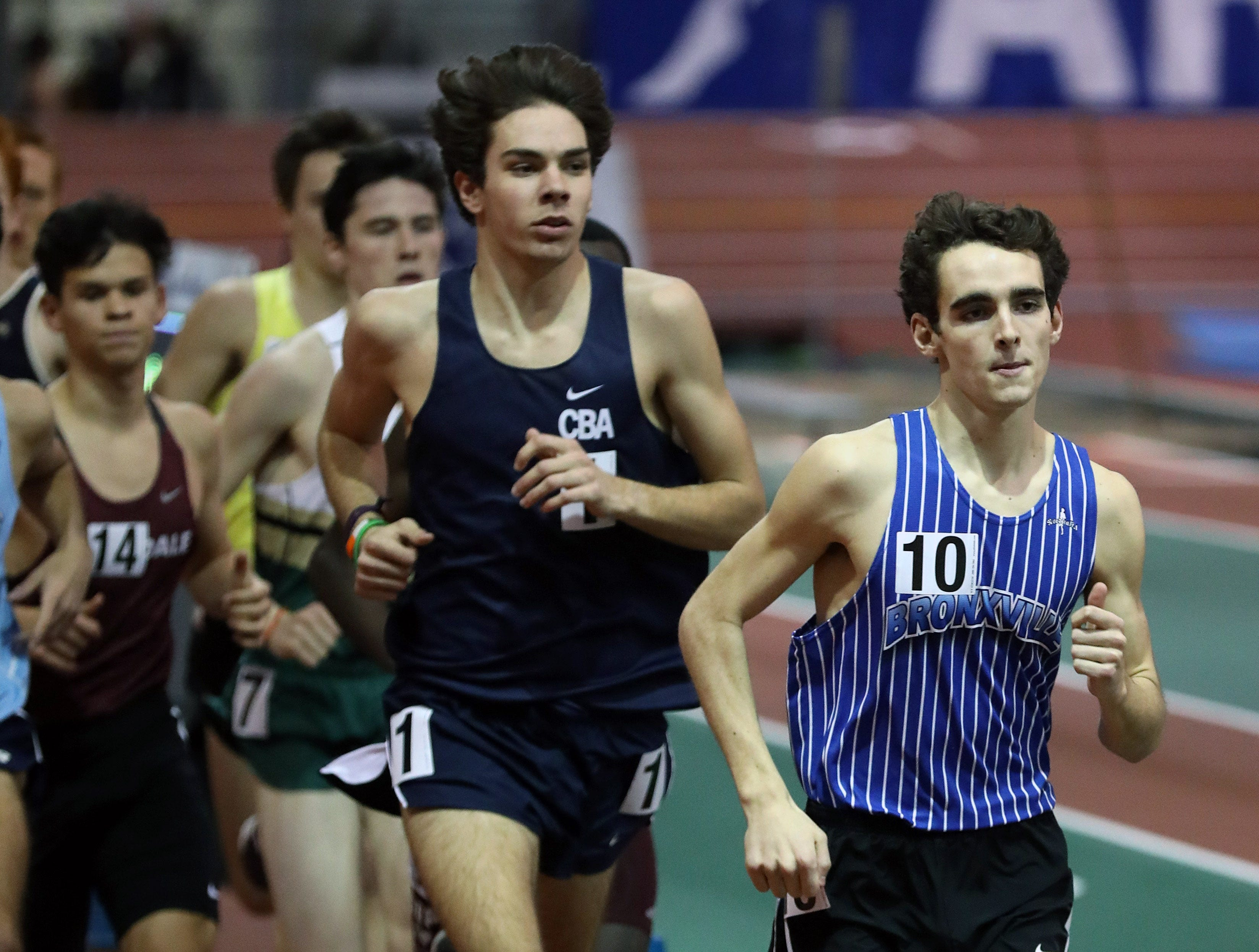 Bronxville's Matt Rizzo competes in the Boys invitational mile during the Millrose Games Trials at the Armory in Manhattan Jan. 9, 2019.