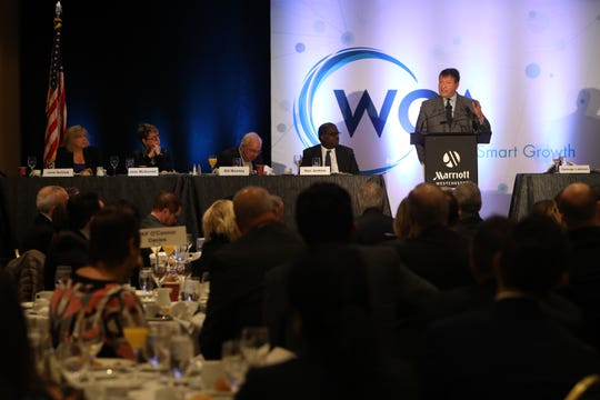 Westchester County Executive George Latimer announces $1.2B 'North 60' lease during his annual speech to members of the business organization of the Westchester County Association Jan. 10, 2019 at the Westchester Marriott Hotel.