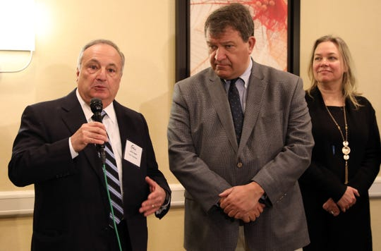 Developer John Fareri of Fareri Associates comments after Westchester County Executive George Latimer announced the $1.2B 'North 60' lease deal Jan. 10, 2019 at the Westchester Marriott Hotel.