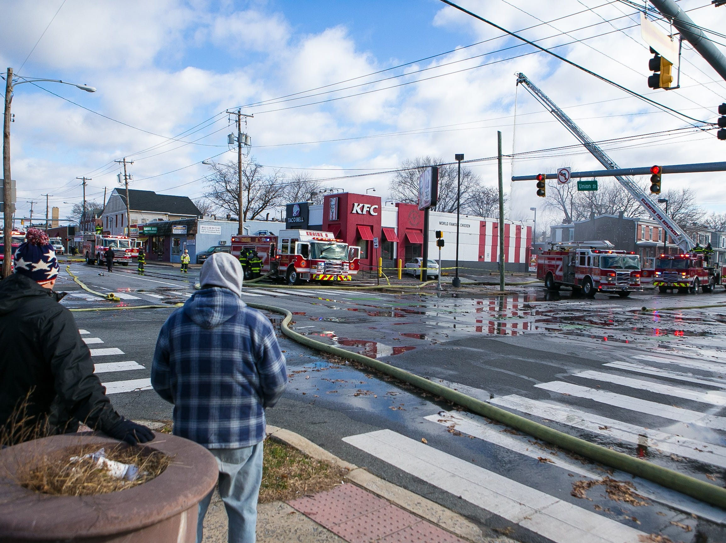 Wilmington Firefighters are on the scene at the KFC/Taco Bell located on N.Union Street and Lancaster Avenue.