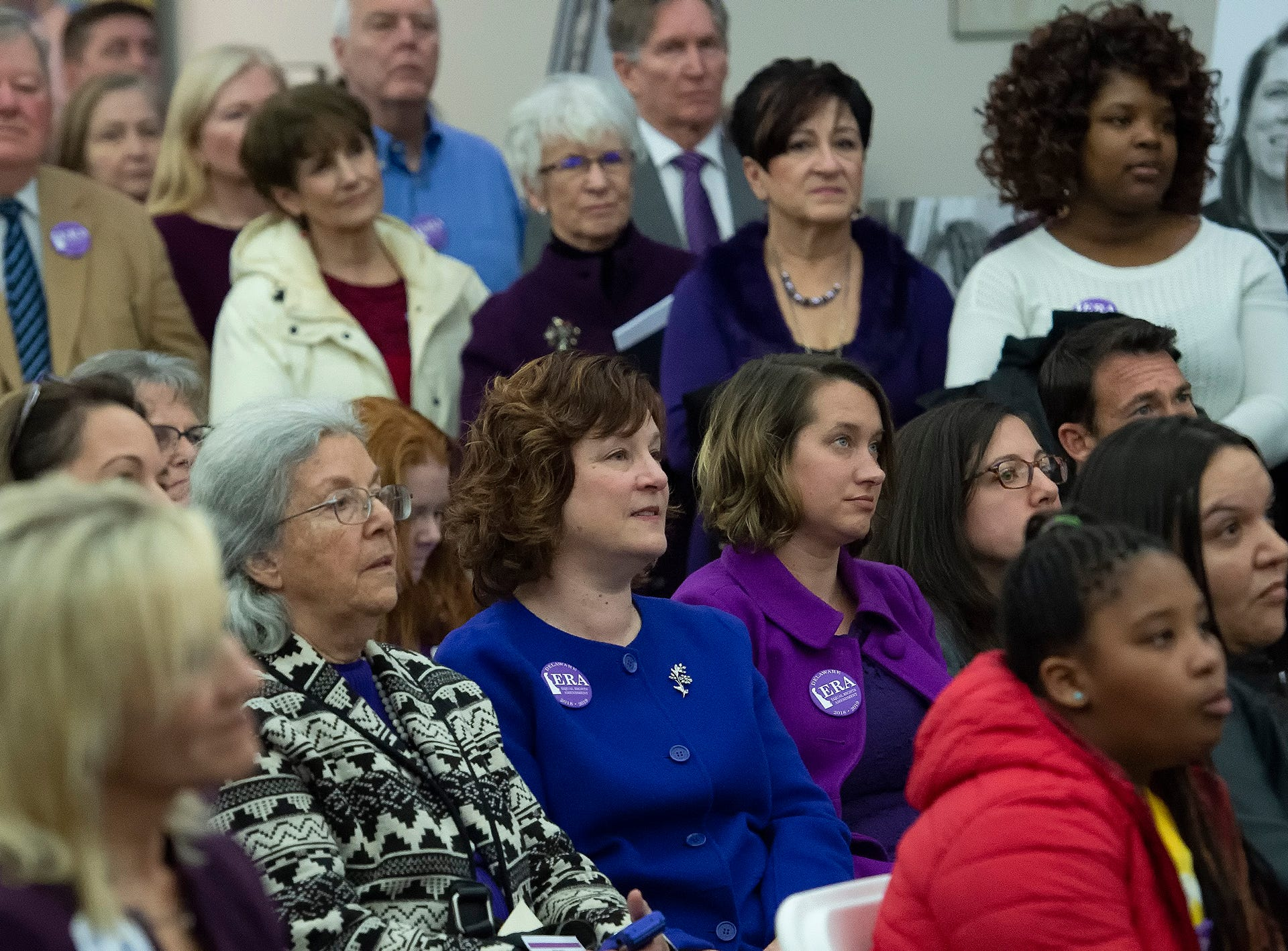 Visitors to the Delaware Public Archives attend an event honoring the women of the 126th General Assembly.