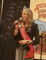 2018 Fairest of the Fair Isabella Haen of Kewaunee County gives her farewell address at the Wisconsin Association of Fairs annual convention at  the Chula Vista Resort in Wisconsin Dells, Jan. 6-9