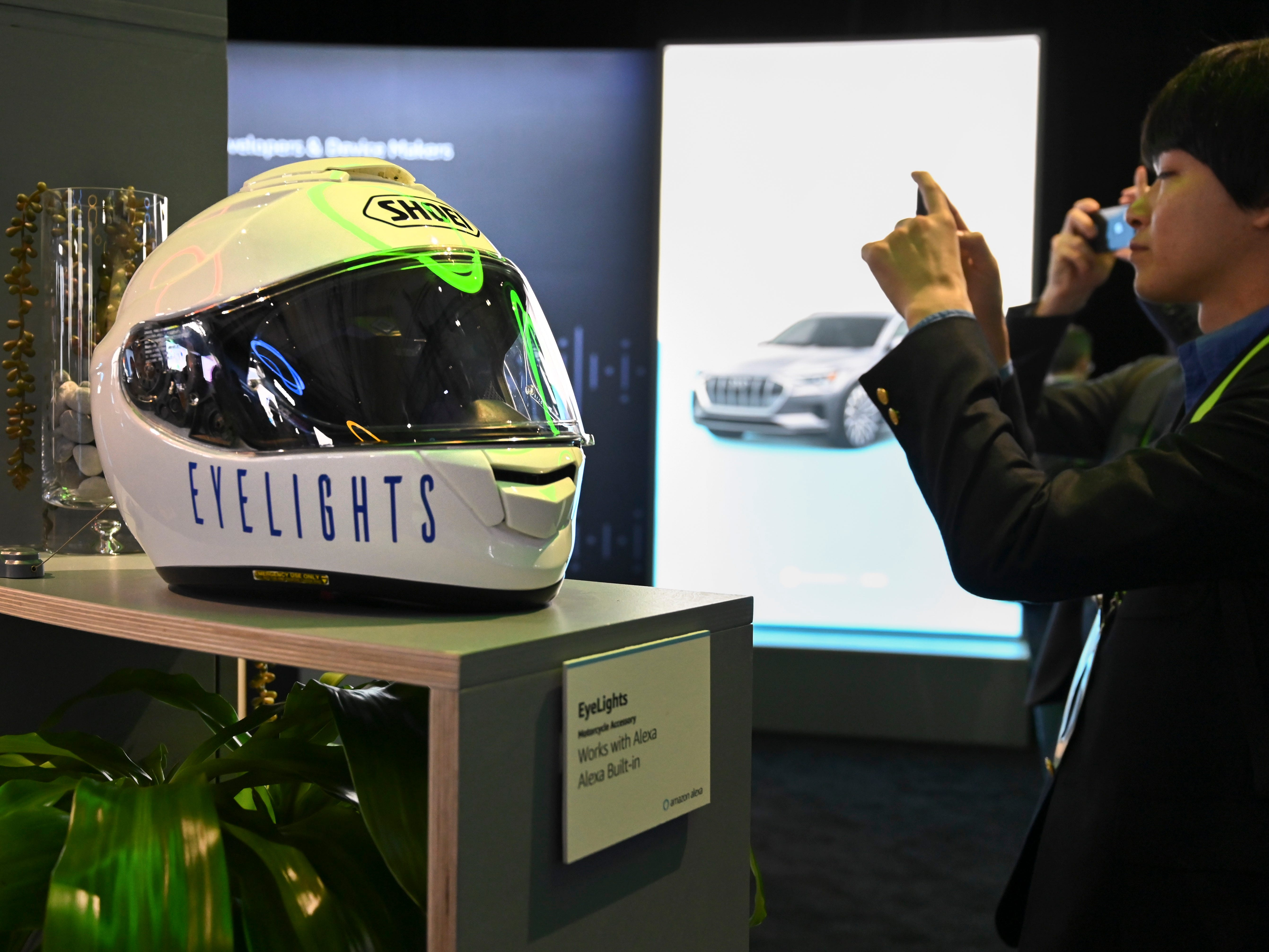 Eyelightings, an Alexa enabled motorcycle helmet.