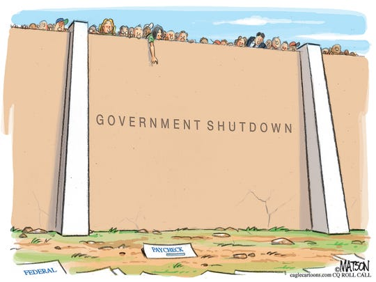 Federal paycheck shutdown