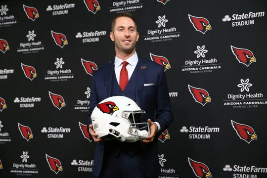 Arizona Cardinals introduce their new head coach Kliff Kingsbury during a press conference on Jan. 9 at the Cardinals Training Facility in Tempe, Ariz.