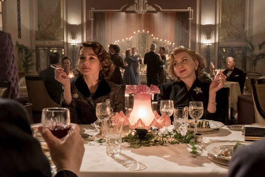 "Lucille Hardy (Shirley Henderson, left) and Ida Kitaeva Laurel (Nina Arianda) bring the sparks in ""Stan & Ollie."""