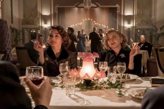 "Lucille Hardy (Shirley Henderson, left) and Ida Kitaeva Laurel (Nina Arianda) bring the sparks in ""Stan & Ollie."""