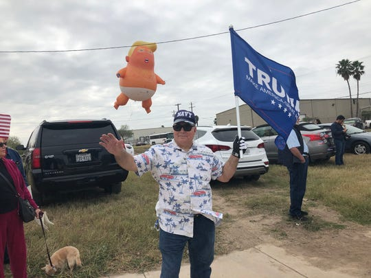 "Eddie Zamora, 56, of McAllen, Texas, said he supports President Trump's plan to build a border wall through his community. ""I guarantee everybody out here locks their doors at night,"" Zamora said."