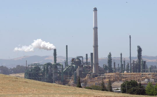 An oil refinery in Benicia, California.