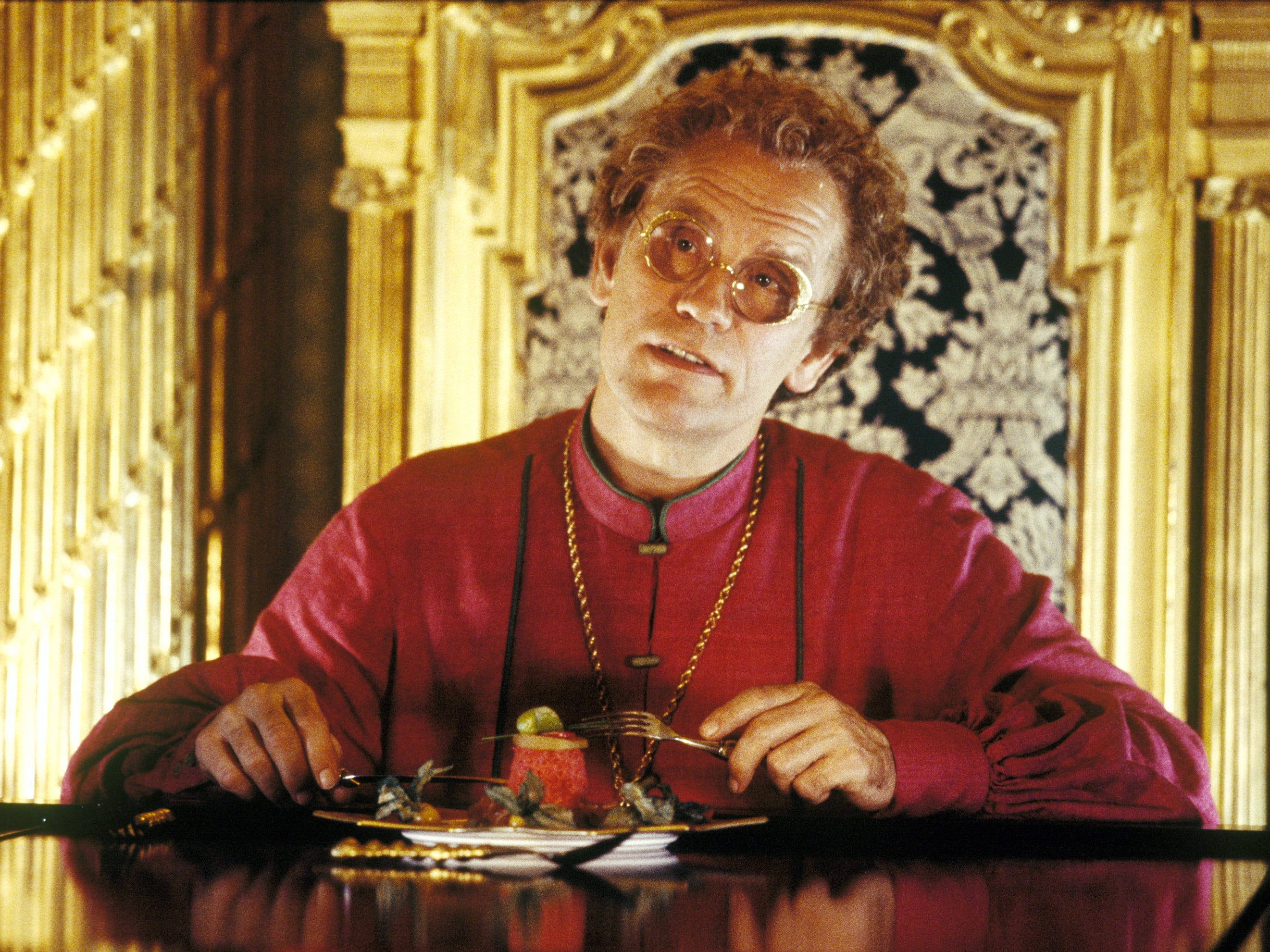 Humma Kavula (John Malkovich) in a scene from the motion picture Hitchhiker's Guide To The Galaxy.  --- DATE TAKEN: rec'd 04/05  By Laurie Sparham   Touchstone Pictures        HO      - handout   ORG XMIT: ZX34372