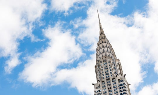 epa07271833 A view of the Chrysler Building in New York, New York, USA, 09 January 2019. The building, which was originally built in 1930 and has been owned by Abu Dhabi-based investment fund Mubadala and the real estate firm Tishman Speyer since 2008, is reportedly being put up for sale.  EPA-EFE/JUSTIN LANE