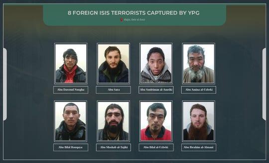 The Kurdish People's Defense Units said it captured eight Islamic State terrorists.