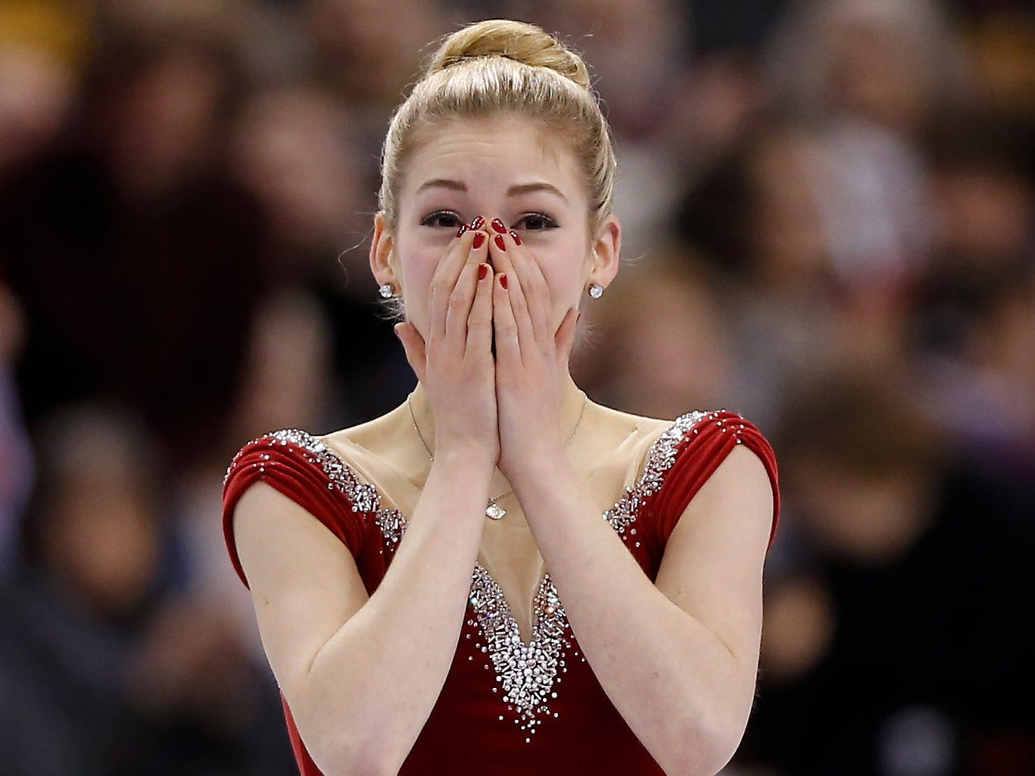 In January 2014, Gracie Gold won her first national title at the senior level, at TD Garden. She was 18.