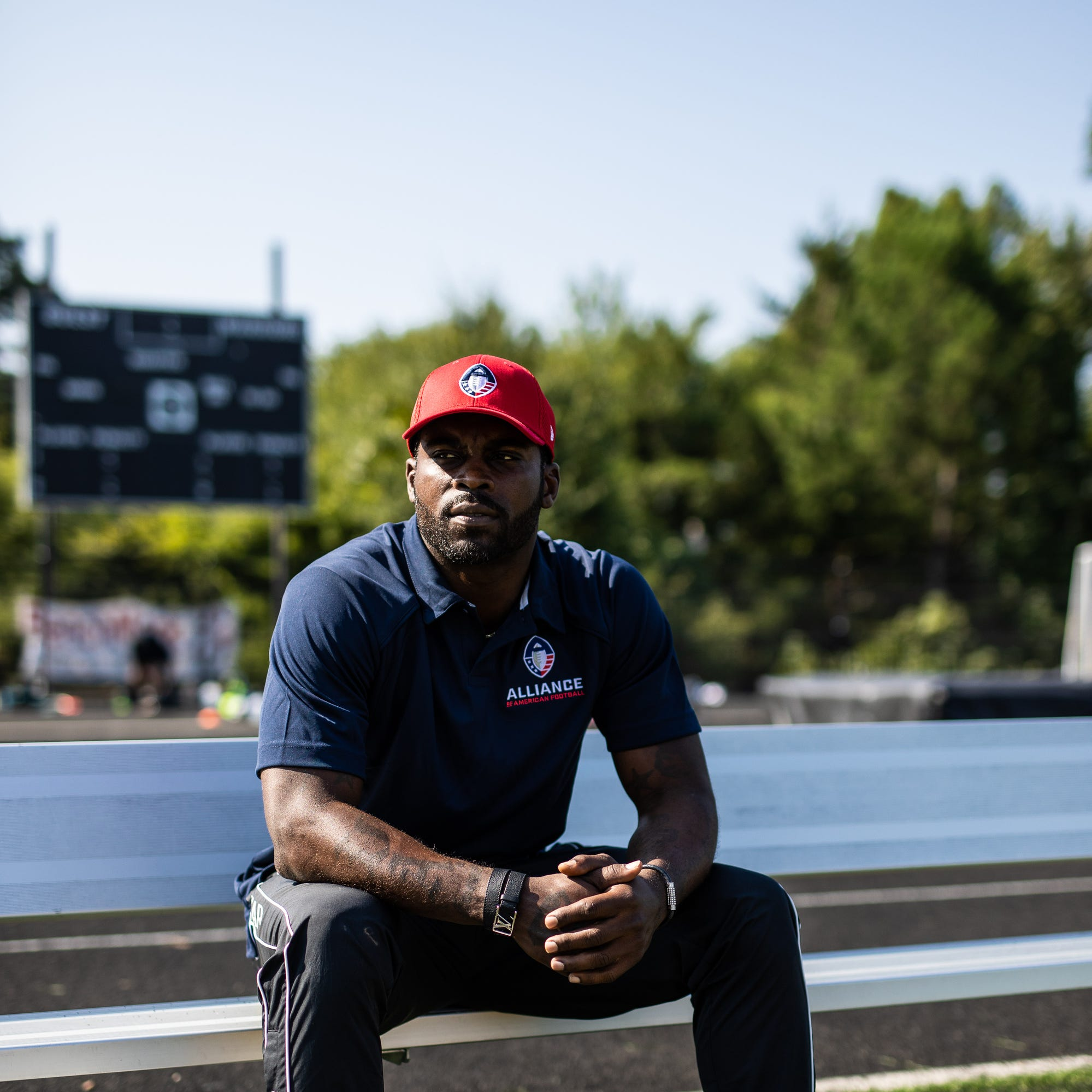Michael Vick back in Atlanta as face of a league, coaching a team of second-chancers