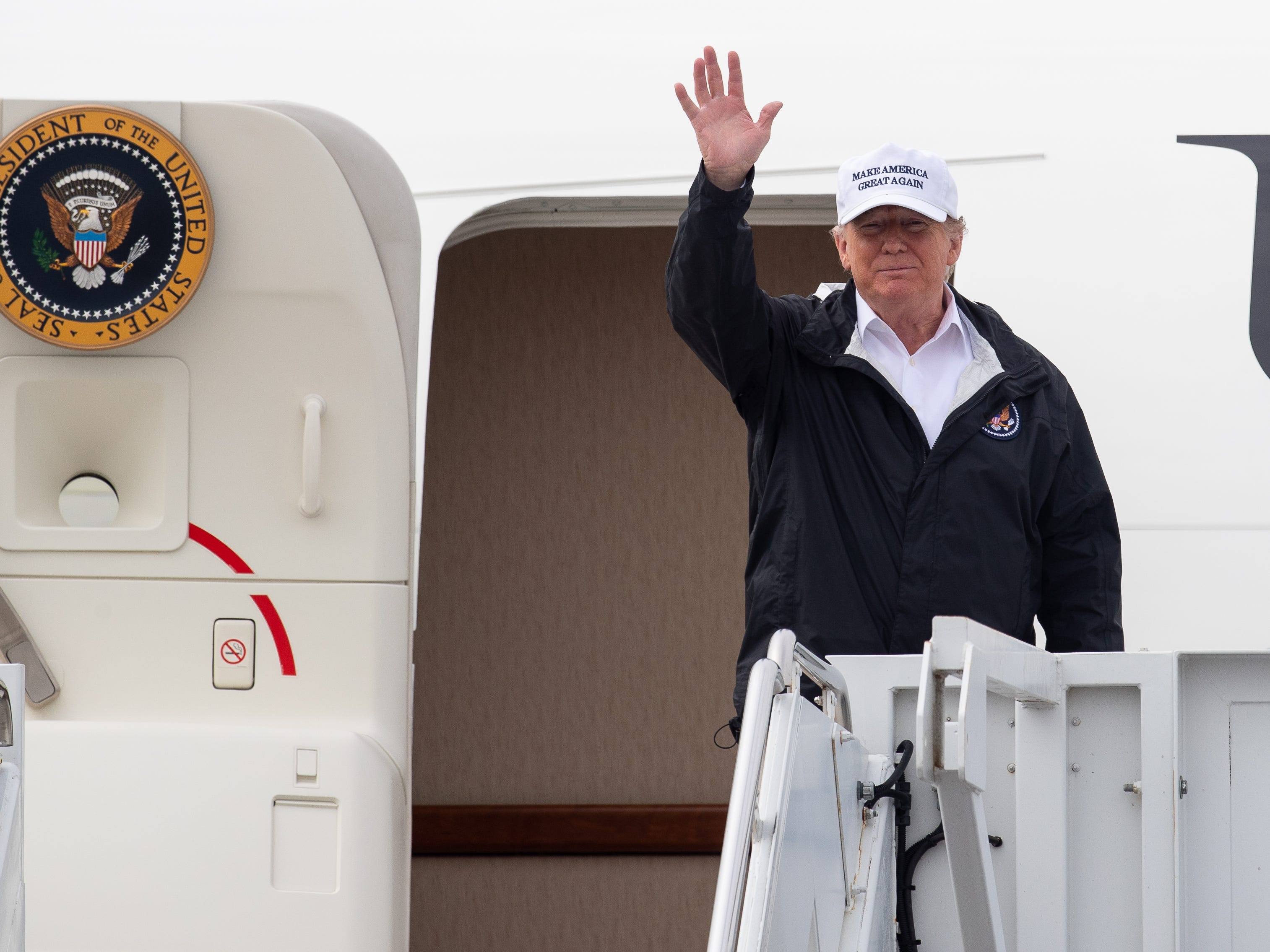 President Donald Trump arrives in McAllen, Tx to speak to offices and tour the U.S southern border on Thursday, Jan. 10, 2019. The trip comes two days after President Trump delivered a nation wide address setting there is a crises along the border and calling for a wall or barrier.