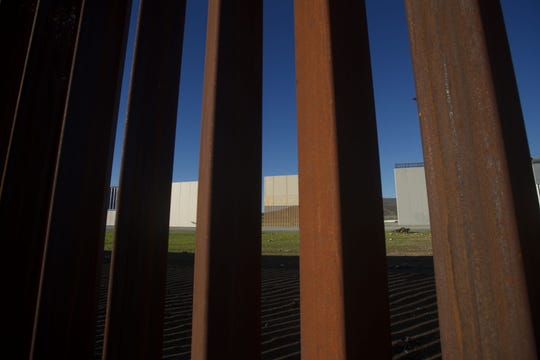 Designers built prototypes of a wall on the U.S.-Mexican border.