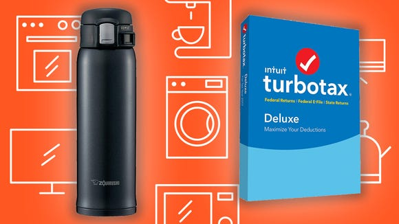 Today's top Amazon deals are on travel mugs, tax software, and more/